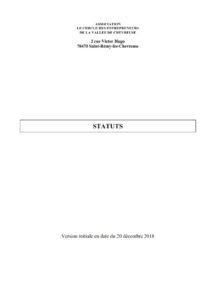 Statuts - Cercle des Entrepreneurs de la Vallée de Chevreuse